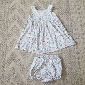 Feather Baby baby/toddler girl 2T dress & cover